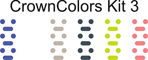 Crown Colors (Midnight, White, Grey, Dark, Green, Peach) Customize Your Watch Crown with Colors for Your Apple Watch Crown dial (Label Peach)