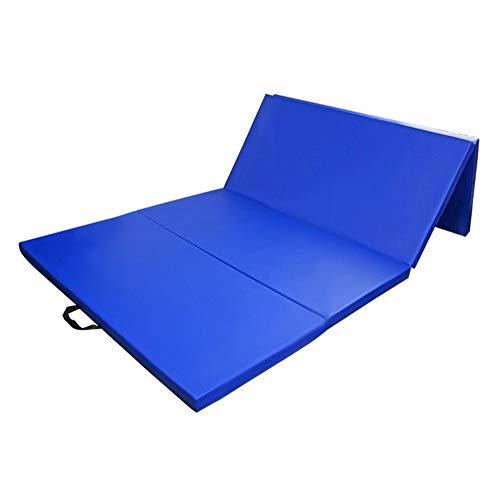 VeenShop Folding Gymnastics Mat Workout Fitness Yoga Stretching Tumble MatBlue 4'x10'x2