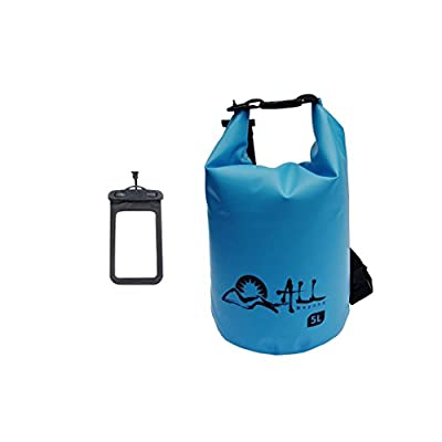 ALLBEYOND 500D 5L/10L/20L/30L Tarpaulin PVC Waterproof Dry Bag Roll Top Sack Keeps Gear Dry for Kayaking/Swimming/Camping/Fishing/Snowboarding/Canoeing/Hiking with Waterproof Phone Case
