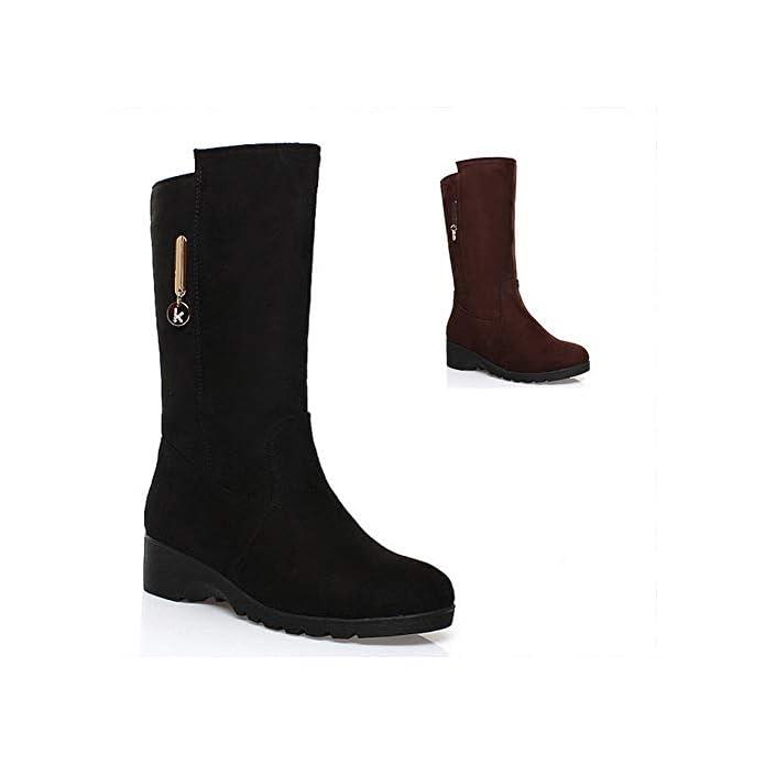 Gz Women 's Boots - Stivali Il Tallone Di Massima tacco Alto Impermeabile Testa Rotonda Alti slim Donne' S Rettifica 35-43