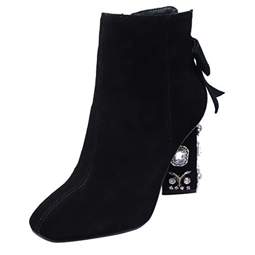 a9775ddd236 Jushee Womens Juamaze 8.5 cm cm cm mid-Heel Ankle Zipper Leather Boots  B07GYZGJWD Parent 141bc4