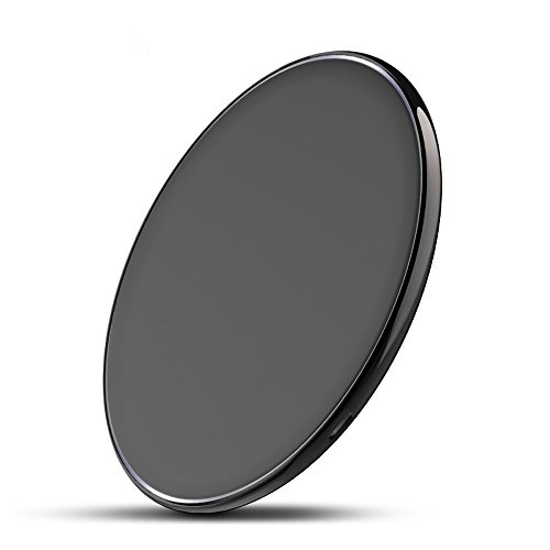 Portable Charger Wireless Charging Pad Ultra Thin Fast Charge for iPhone X 8/8 Plus, Samsung Galaxy S9/S8/S7 Plus & All Qi-Enabled Phones (Rocket Science 2 Wire)