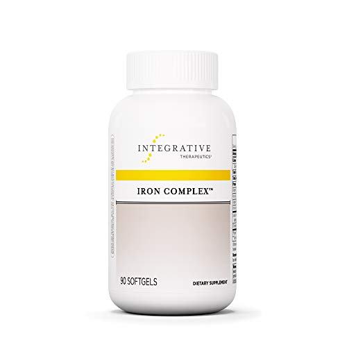 Integrative Therapeutics - Iron Complex - 50 mg of Iron in a Heme and Non-Heme Iron Blend Supports Energy and Stamina - 90 Softgels