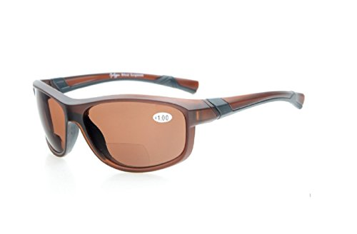 Herina, Bifocal Eyekepper TR90 Unbreakable Sports Bifocal Sunglasses (+250, Brown - Ducati Oakley Sunglasses
