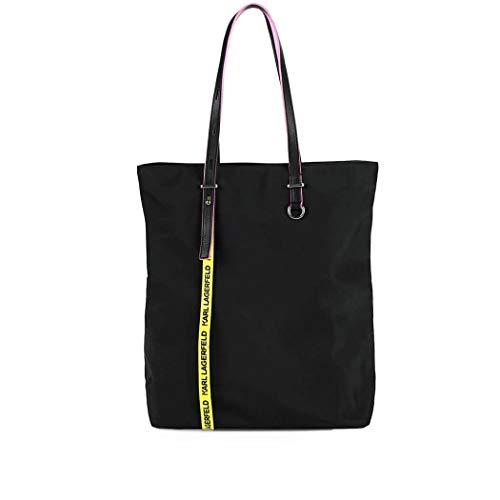 91kw3084999 Lagerfeld Poliammide Karl Borsa Nero Shopping Donna Igxp0Oq