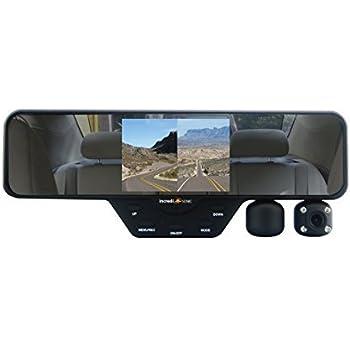 Falcon Zero F360 HD DVR Dual Dash Cam, Rear View Mirror, 1080p, SD Card Included (Black)