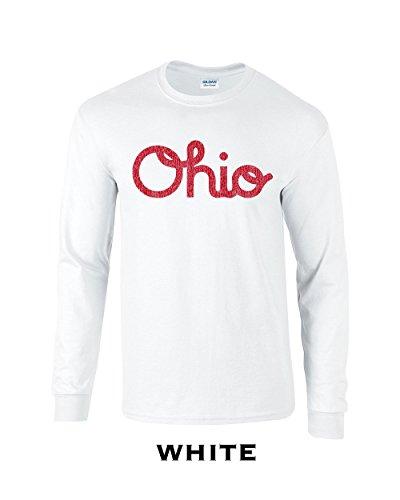 Swaffy Tees 142 Ohio Script Adult Long Sleeve T Shirt