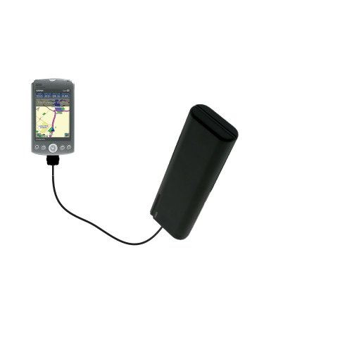 - Gomadic Portable AA Battery Pack designed for the Garmin iQue M3 - Powered by 4 X AA Batteries to provide Emergency charge. Built using TipExchange Technology