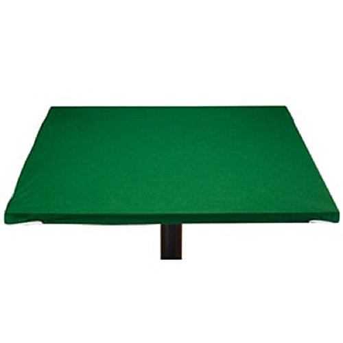 Miles Kimball Sure-Grip Pocker Card Game Green Felt Table Cover - for Square Round Hexagon Octagonal - Choose Size (Square 34