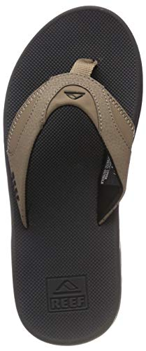 Reef - Mens Fanning Sandals 2019, Tan/Black/Tan, 14