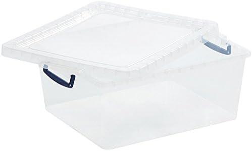 Cajas de almacenaje de plástico transparente, con tapas, caja ...