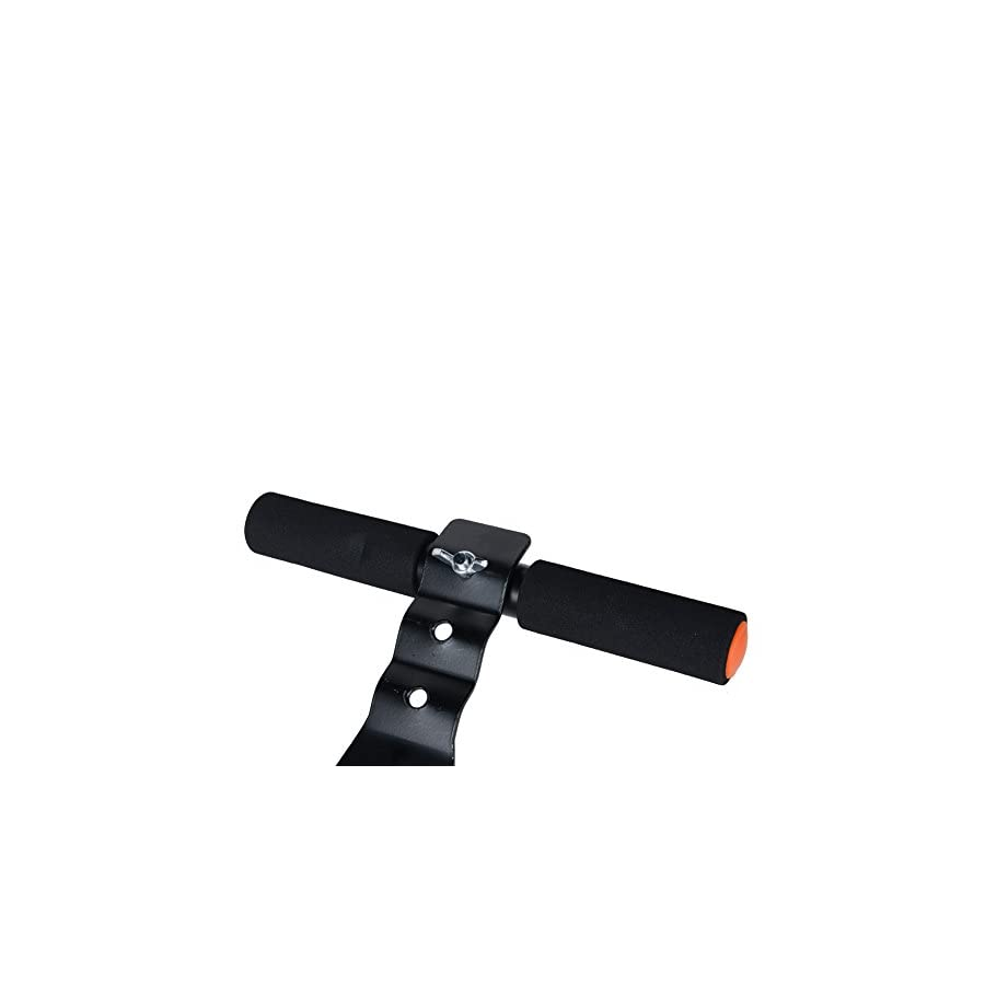 WIN.MAX Sit Up Bar for Fitting the waists with Foam Handle & Steel (Black, Pack of 1)