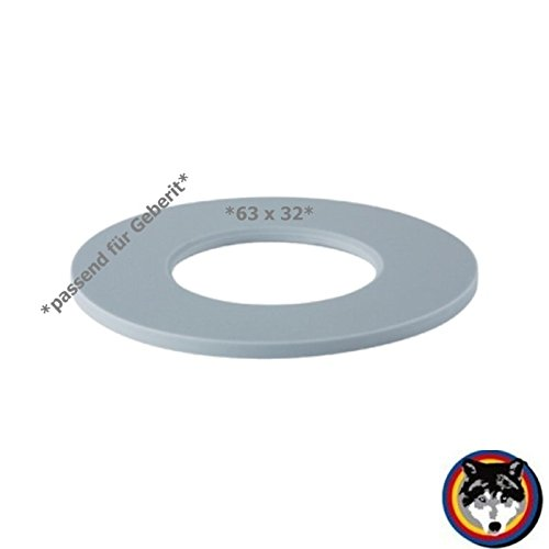 Geberit 816.418.00.1 Junta de campana, tamañ o 63 x 32 mm tamaño 63x 32mm Haas