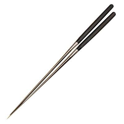 みきかじや村 純チタン黒合板六角柄盛箸 180mm TS080 B00CFHMQBC