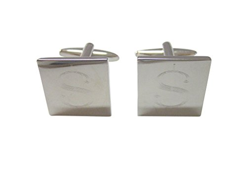 Silver Toned Etched U.S. Dollar Sign Cufflinks