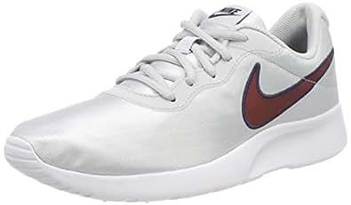 Nike Women's Tanjun Se Sneaker, Gold (Pure Platinum/Red Crush 010), 3.5 UK