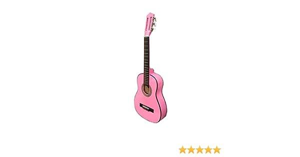 Guitarra rocio c6n (1/4) cadete 75 cms rosa: Amazon.es ...