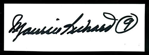Maurice Richard Autographed Signed Auto Autograph Paper Cut PSA/DNA Authenticated Canadiens ()