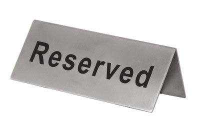 Reserved Signs Stainless Steel Double Sided Pack of 6 by The First Ingredient (Image #1)