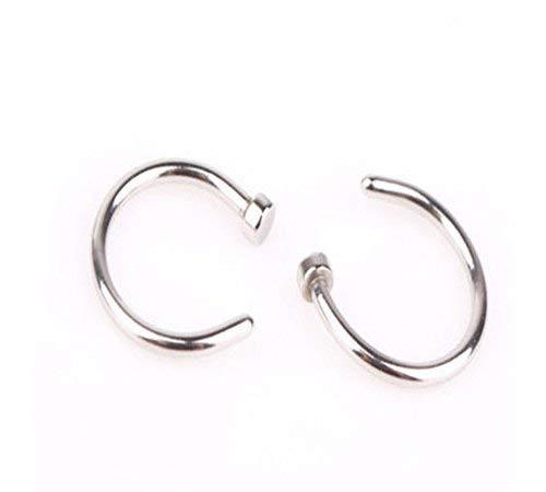 Lovinda M/ädchen C-Form Nasenring 10-teiliges Set Nase Stud Edelstahl Nase Piercing Ring Hoop f/ür Frauen G/ünstige Schmuck Lady Geburtstagsgeschenk x 1 Satz