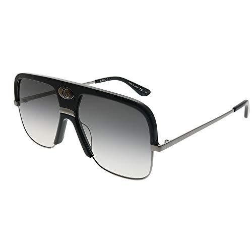 Sunglasses Gucci GG 0478 S- 001 BLACK/GREY RUTHENIUM 001 Black Plastic Sunglasses