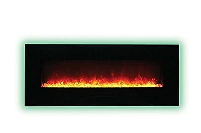 Amantii WM-FM-48-5823-BG-ICE Electric Fireplace with Ice Media Kit, 48-inch