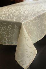 Lustre Weave Jacquard Medium Weight Fabric Tablecloth (60
