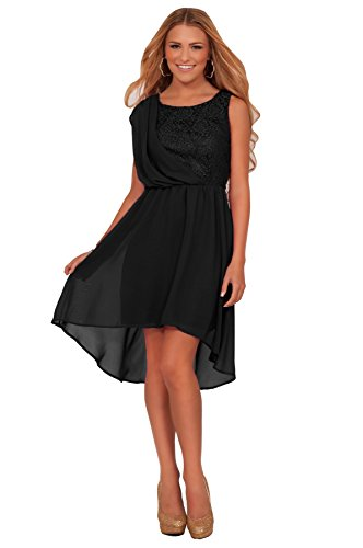 Junior Homecoming Sleeveless Prom Formal High Low Sheer Empire Waist Party Dress