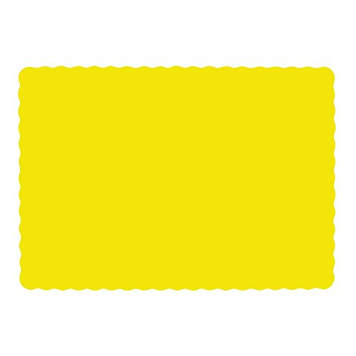 Edge Paper Placemat (Paper Placemats yellow 10 x 14 Pack Of 500 Scalloped Edge Heavy Weight Paper 60 Pound)