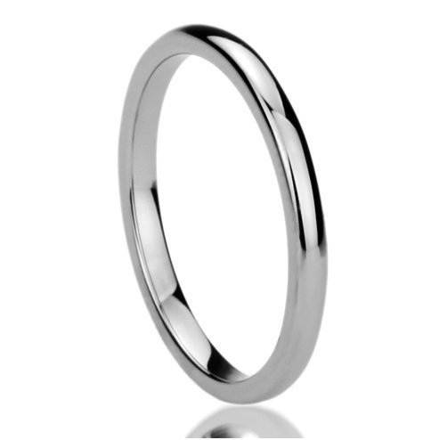 Athena Jewelry Titanium Series 1.5 MM Titanium Comfort Fit Wedding Band Ring Classy Domed Ring(Size Selectable) (6.5) by LOVE Beauties (Image #2)