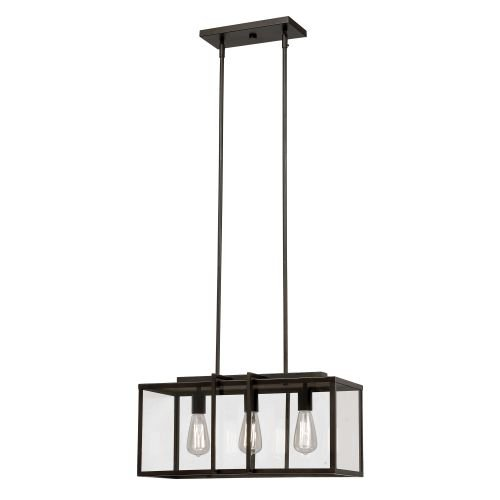 Rob 3 Light Pendant (Trans Globe 10213 ROB Boxed - Three Light Adjustable Pendant, Rubbed Oil Bronze Finish with Clear Glass)