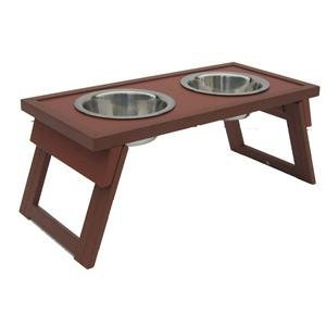 Price comparison product image New Age Pet Genuine Dog Bowl Double Raised Med Rus by Generic