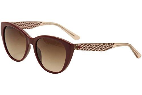 Lacoste Women's L832S Rectangular Sunglasses, Burgundy, 54 mm