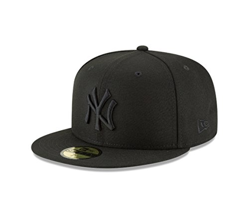 New Era 59Fifty Hat MLB Basic New York Yankees Black/Black Fitted Baseball Cap (7 3/4)