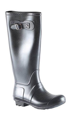 Hadari Womens Casual Fashion Rubber Pull On Knee High Boots
