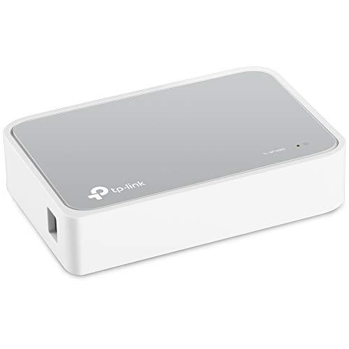 TP-Link 5 Port Fast Ethernet Switch | Desktop Ethernet Splitter | Ethernet Hub | Plug and Play | Fanless Quite | Unmanaged (TL-SF1005D)