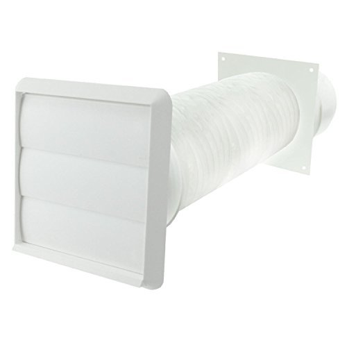 Spares2go Exterior Wall Ducting Kit For Aeg Cooker Hoods (White, 4