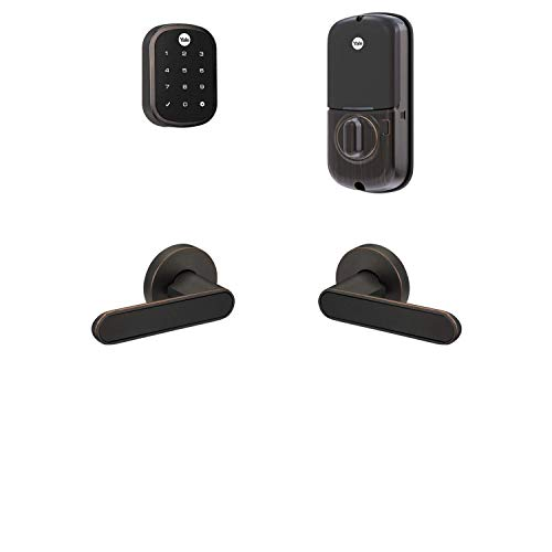 Yale Security B-YRD256-ZW-KCB-0BP Yale Assure Lock SL with Z-Wave with Kincaid BK Works with Ring Alarm, Smartthings, and Wink Smart Touchscreen Deadbolt with Matching Lever, Key-Free, Bronze