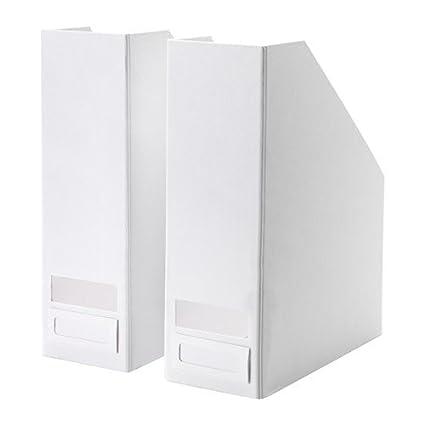 Ikea Tjena Porte Revues Blanc Lot De 2 Amazon Fr Cuisine