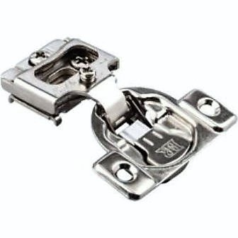 "10 Pack - Integrated Compact 6-way adjustment, 1/2"" overlay Concealed Cabinet Door Hinges with Built-in SOFT CLOSE - 105 degree opening"