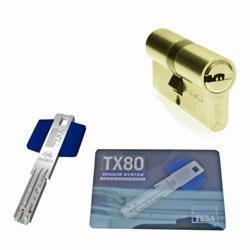 TESA - BOMBILLO SEGURIDAD TX80 60X60 LATON 5 LLAVES