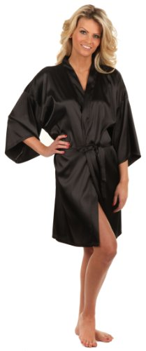 Anntourage Women's Kimono Robe-Mystery Black-Large/X-Large, Short