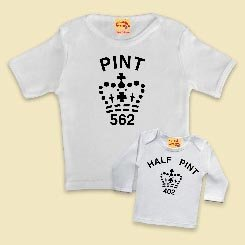 a76414d6 Image Unavailable. Image not available for. Color: Dad & Sprog Twin Set - Half  Pint/pint ...