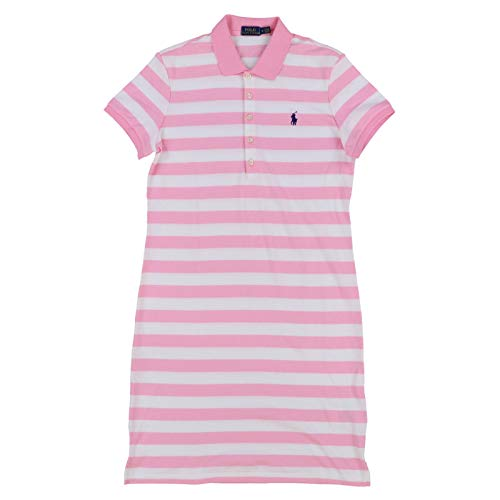 Ralph Lauren Womens Interlock Polo Dress (M, Pink Stripes) ()