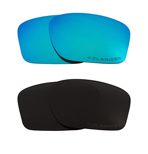 New SEEK Replacement Lenses Oakley CHAINLINK - Polarized Black Blue (Chainlink Lenses)