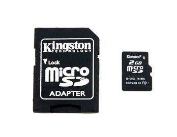Kingston 2GB Micro SD Card TF + - Apple Gb 2 Kingston