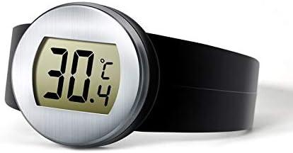 Compra Goldyqin Termómetro Digital de Botella de Vino Tinto LCD Medidor electrónico de Temperatura de Vino Reloj Termómetro automático de Botella Herramientas de Vino TM-5 - Negro en Amazon.es