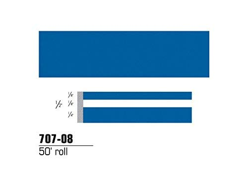 """Price comparison product image 3M Scotchcal 70708 Vinyl Film Coated Double Striping Tape,  50' Length x 1 / 2"""" Width,  Blue"""