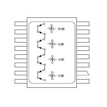Attenuators DC-2.0GHz 4-bit Atten:2-dB to 30dB (AT-233-PIN)