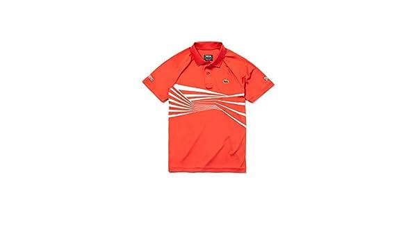 Lacoste - Polo - para Hombre Naranja Rojo/Blanco M: Amazon.es ...